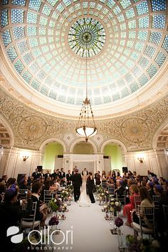 Chicago Cultural Center Wedding Ceremony Downtown