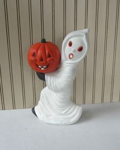 Vintage Halloween Ghost Figurine Tall by VintageSouthernPicks