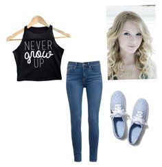 """""""Never Grow Up"""" by karaawesome30 ❤ liked on Polyvore featuring Jennifer Zeuner, Keds and Paige Denim"""