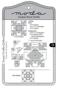 Moda Sampler Bloque shuffle - Bloque 19