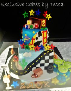 disney pixar cars cakes   Exclusive cakes toy story and cars cake with logo (by Exclusive Cakes ...