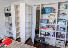 Turn IKEA billy bookcases into gorgeous built in bookshelves with these step by step instructions. Bookshelves In Living Room, Bookcase Door, Ikea Billy Bookcase, Bookshelves Built In, Built Ins, Southern Living, Billy Hack, Stair Paneling, Ikea Built In