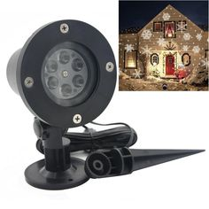 Christmas Lights Outdoor LED Snowflake Laser Projector Light Waterproof Snow Lasers