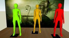 Visualização grande do modelo 3D de Manequim