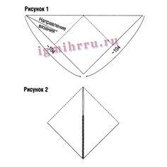 Меланжевое пончо в виде треугольника. Вязание спицами