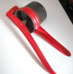 RED POTATO RICER Vintage Kitchen Mid Century by SecondhandNel, $15.00