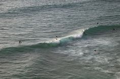 surfing on the ocean