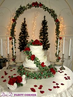 christmas wedding cake ..