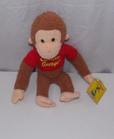 Curious George Monkey Plush Stuffed Animal Toy Applause New with Tags Curious George, Pet Toys, Monkey, Plush, Teddy Bear, Tags, Animals, Jumpsuit, Animales