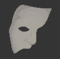 Phantom of the Opera Mask Cross Stitch Pattern ( Printable PDF )