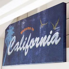 California Wall Art #potterybarnteen  Could I paint something like this??