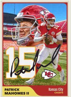 Patrick Mahomes Kansas City Chiefs Custom Rookie Card NFL QB RP Autograph aa9c35ba9