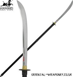 Naginata (なぎなた, 薙刀) | pole weapon | Blade length avg.: 30 - 60 cm (12–24 in); Handle length avg.: 120 - 240 cm (47 - 94 in)