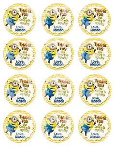 Printable Despicable Me Minion Favor Tags by NeatAndSweetDesigns...Despicable Me Minion Party #despicableme2party