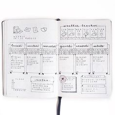 Bullet Journal® with Clarissa @my_journaling_corner sharing with us her lovely Weekly Log.