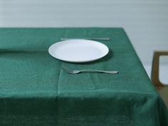 Linen tablecloth (green) 924