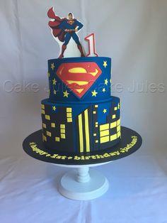 Superman Birthday, Superhero Birthday Party, Superman Cakes, Wedding Cakes With Cupcakes, Treat Yoself, Birthday Cakes, Drop, Treats, Desserts