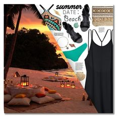 """""""Summer Date: The Beach"""" by amethyst0818 ❤ liked on Polyvore featuring Alex and Ani, Victoria's Secret, Seafolly, Melissa Odabash, Belk & Co., Skemo, Tiffany & Co. and NOVICA"""
