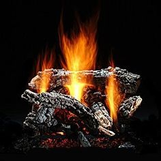 Gas Logs :: Hargrove :: Hargrove See Thru Vented Log Sets :: 30 inch :: Hargrove Canyon Wildfire Log Set - Shallow ST - NG - Hand Painted Highlights, Expanded Metal Mesh, Fireplace Logs, Gas Fireplaces, Outdoor Heaters, Combustion Chamber, Gas Logs, Decoration, Hearth