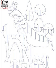 GIRAFFE BOOK SHELF - Cnc plans cutting file book shelf - svg cut file ,Sliced…