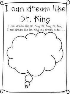 Martin Luther King, Jr. printable - Re-pinned by @PediaStaff – Please Visit http://ht.ly/63sNt for all our pediatric therapy pins