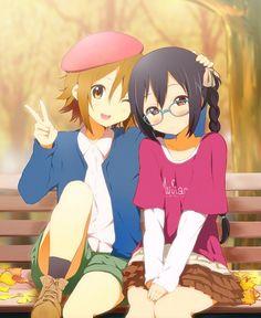 Ritsu and Azu-nyan! K On Anime, Anime Kawaii, Manga Anime, Anime Art, Anime Stuff, Anime Best Friends, Friend Anime, Moe Manga, Manga Girl
