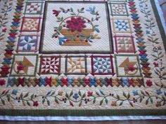 Basket of Flowers Pieced and appliqued by Mary Waddill Quilted by Karen Denney