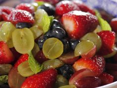 Fruit Salad with Orange-Vanilla Syrup Recipe : Ree Drummond : Food Network - Foo. - Recipes to Cook - Breakfast And Brunch, Sunday Brunch, Ree Drummond, Salad Presentation, Food Network Recipes, Cooking Recipes, Cooking Ideas, Vanilla Syrup, Orange Salad