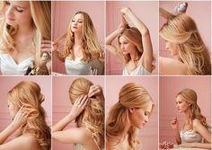 Peinado re simple y súper elegante