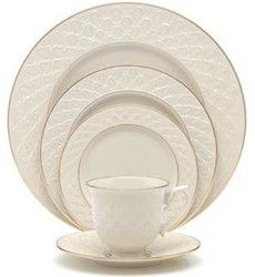 Lenox Jacquard Gold My wedding china ~M