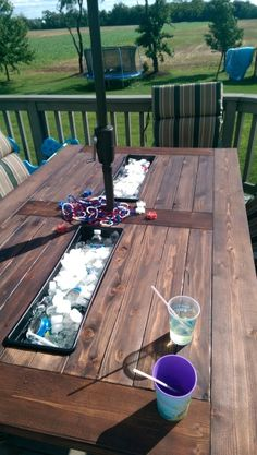 Kreg Jig® Project: Outdoor Table with Built-In Coolers by Sean M.