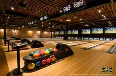 Have you ever seen a bowling alley as cool looking as Brooklyn Bowl?