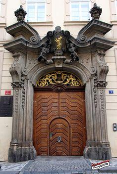 ♅ Detailed Doors to Drool Over ♅ art photographs of door knockers, hardware & portals - Prague, Czech Republic Cool Doors, Unique Doors, The Doors, Windows And Doors, Front Doors, Entrance Ways, Grand Entrance, Entrance Doors, Doorway