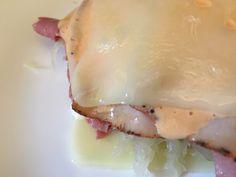 """Low Carb Reuben """"Sandwich"""" recipe. Yum!"""