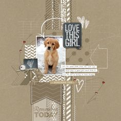 chalkboard style in scrapbook page from Lori at DesignerDigitals
