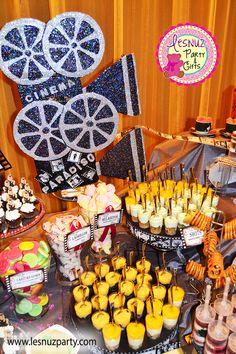 Mesa dulce temática Cine Clásico - Old Hollywood dessert table Movie themed