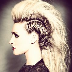 how to long hair mohawk - Google Search
