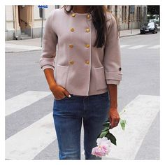 This dusty pink dream is finally in stock! You find Stockholm Jacket via link in bio! #busnel #ss17 #stockholmjacket