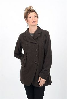 Miromesnil Swing Jacket - Espresso from Lilith at Evie Lou