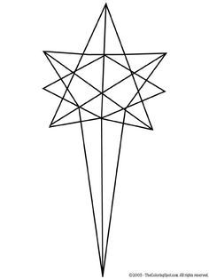 star of bethlehem clipart black and white - Google Search
