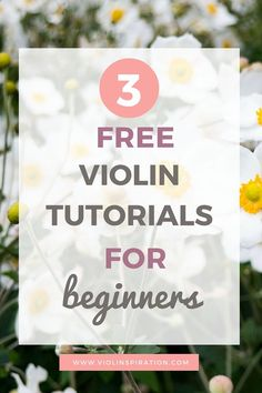 Here are 3 free violin tutorials for beginning violin players. Good luck with learning how to play the violin! [Read more]