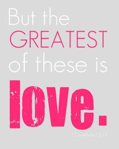 FREE printable quote wall art: But the GREATEST of these is LOVE // Crafts & Sutch