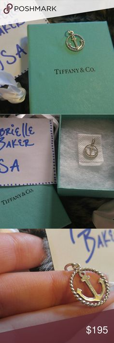 TIFFANY & CO. ANCHOR CHARM ?*SEE NOTICE AT VERY BOTTOM PLEASE!! *? ? NWOT ? Shined & clean  ? Comes with original blue box & ribbon  ? Retails for $200!  ??***I have marked the price so high on here because Posh takes out SO much of what you earn. I have this listed for $160 on several official Tiffany & Co. Buy/Sell Facebook groups if you would like to purchase via there. I will only accept PAYPAL outside of poshmark. The paypal & shipping fees are included in the $160. Message/comment if…