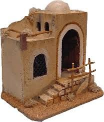 Risultati immagini per casas para pesebres Christmas Crib Ideas, Christmas Village Decorations, Christmas Manger, A Christmas Story, Christmas Crafts, Putz Houses, Fairy Houses, Nativity House, Ceramic Houses