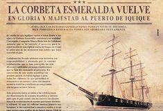 corbeta esmeralda Armada, Sailing Ships, Monitor, Boat, Movie Posters, Emerald, Dinghy, Film Poster, Popcorn Posters