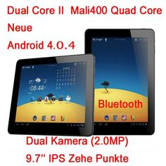 Window/Yuandao N90 Ⅱ Dual Core 2 9.7 Zoll Android 4.0.4 IPS Kapazitiver Touchscreen Tablet PC