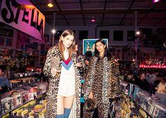 Leopard print coats.