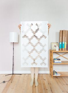 Moroccan Double Large wall stencil, Moroccan Stencil and Geometric stencil, Wall stencils for home - Scandinavian stencil, Stencil pattern Large Wall Stencil, Large Stencils, Moroccan Stencil, Moroccan Bedroom, Expensive Wallpaper, Geometric Stencil, Wall Stencil Patterns, Stenciled Floor, Stencil Painting