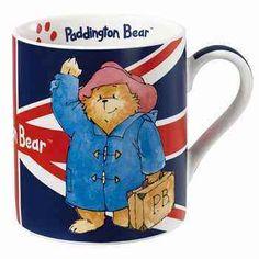Paddington Bear Tourist Mug with the Union Jack Flag Printed on the Mug Rainbow Designs Paddington Bear, Teddy Bear Cartoon, Teddy Bears, Mugs Uk, Teddy Hermann, Luggage Labels, Rainbow Shop, Gift Finder, Pooh Bear