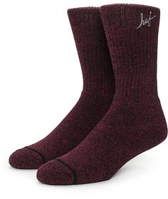 Enhance your comfort with a plush heather burgundy slight stretch  construction with a grey